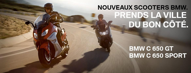 NOUVEAUX SCOOTERS BMW.